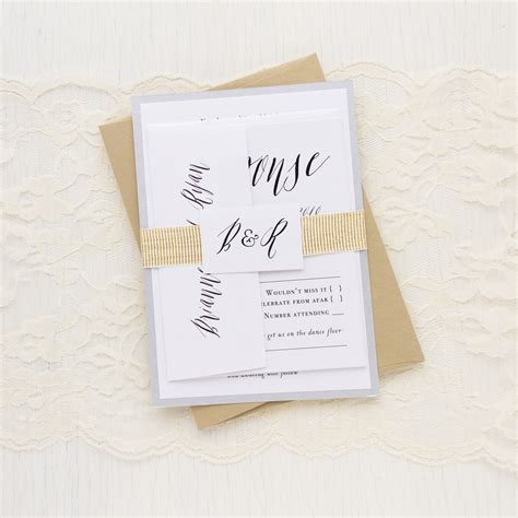 modern calligraphy customizable wedding invitations beacon
