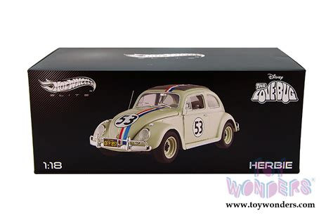 Wheels Elite 1 18 Scale Herbie From Herbie Goes To Monte Carlo V 1962 volkswagen herbie 53 by mattel wheels elite the bug 1 18 scale diecast model car