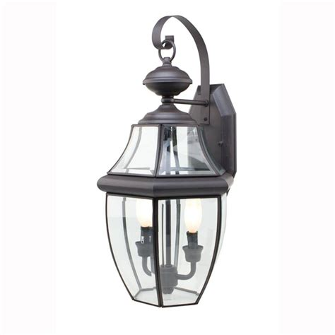 Outdoor Coach Lighting Bel Air Lighting Contemporary 2 Light Outdoor Black Coach Lantern With Clear Glass 4320 Bk The