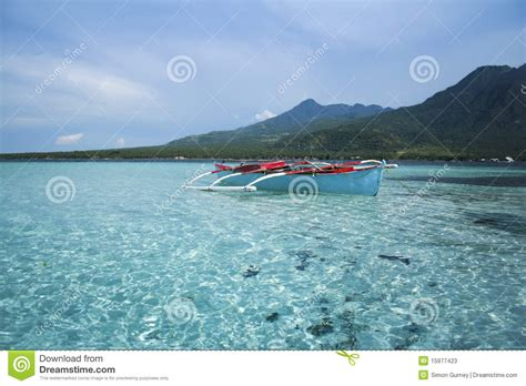 price of fishing boat in the philippines blue banka outrigger fishing boat philippines stock image