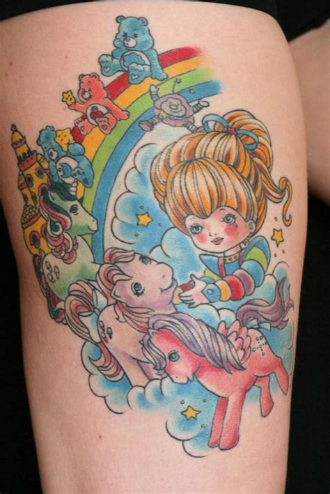rainbow brite tattoo rainbow brite my pony care bears 80s