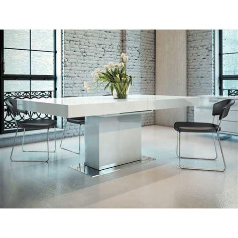 White Lacquer Dining Table Modloft Astor Dining Table In White Lacquer Md520 Laq