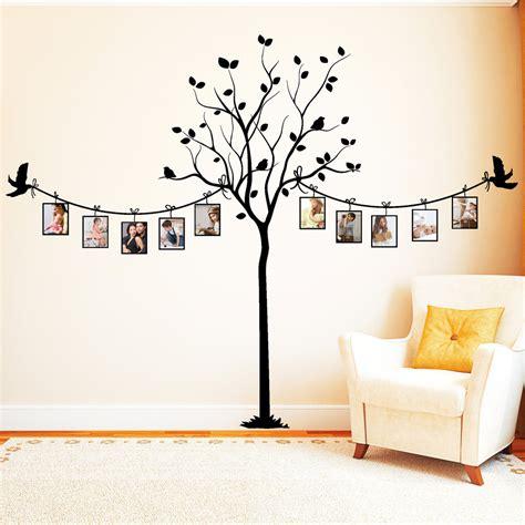 Wand Mit Vielen Bilderrahmen by Foto Baum Mit V 246 Geln Wandtattoos
