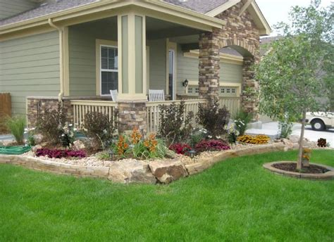 front yard landscaping with stones stripstone wall