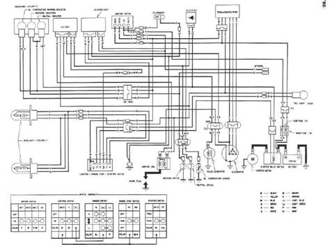 wiring diagram honda trx 70 honda fourtrax wiring diagram