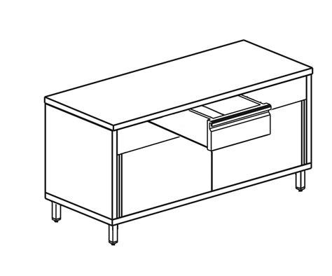 tavolo scorrevole tavolo scorrevole e 1 cassetto sinox italia