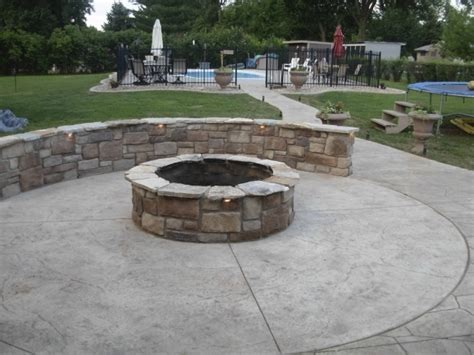 patio designs with pit sted concrete patio with pit pit ideas
