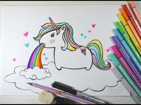 imagenes de unicornios vomitando arcoiris como desenhar unic 211 rnio kawaii vomitando arco 205 ris passo a