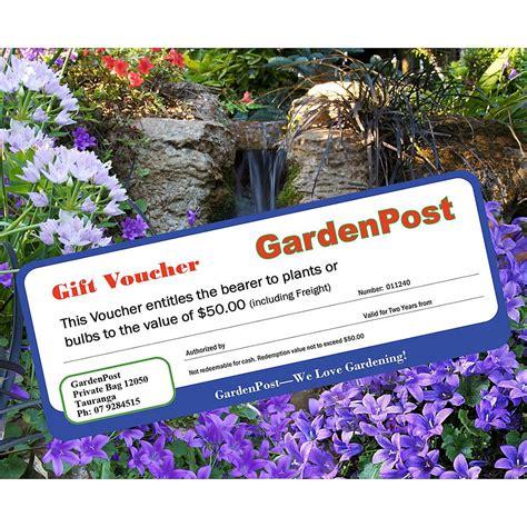 Voucher Macdonald 100 gardener s gift voucher gardenpost