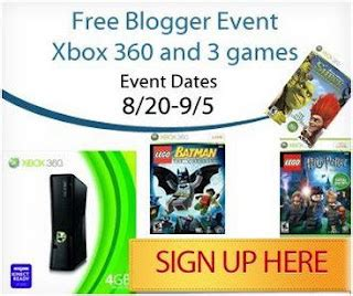 blogger signs ups open free event xbox 360 3 games giveaway mom always finds out - Free Xbox 360 Giveaway