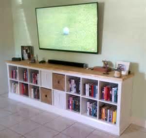 Expedit Ideen Wohnzimmer Built In Expedit Entertainment Center Ikea Hackers