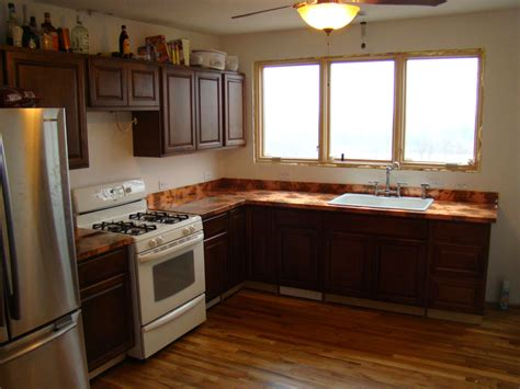 The Kitchen And Diy Copper Countertops Diy Kitchen Countertops