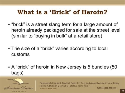 Detox Slang by Heroin Addiction Treatment In New Jersey Bags Bundles