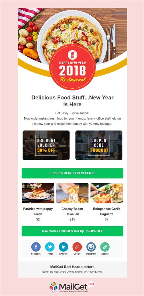 6 Free New Year Email Templates 500 Newsletter 0 Download Free Restaurant Newsletter Templates