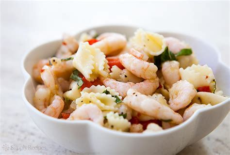 recipes for pasta salad shrimp pasta salad recipe simplyrecipes