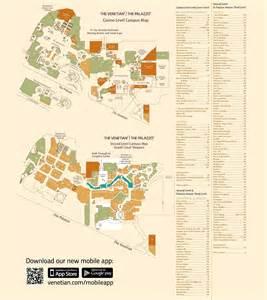 Las Vegas Hotel Map by Las Vegas Venetian And Palazzo Hotel Map