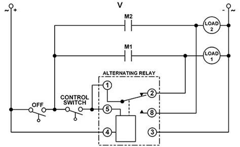 dpdt relay wiring diagram 208v motor electrical relay