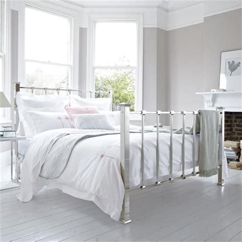 white minimalist metal bed frame beds amp bedrooms