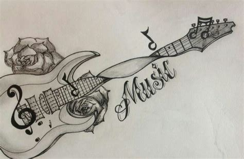 music related tattoos designs guitar tattoos and guitar