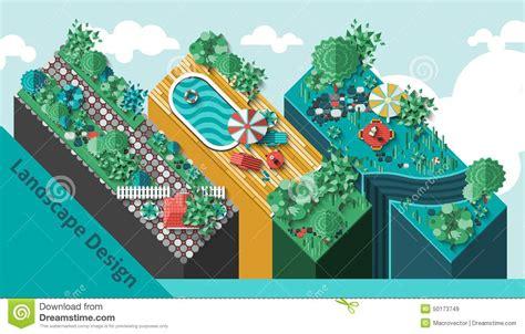 top 28 web based landscape design web based home landscape design concept stock vector image 50173749