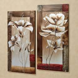 Wall Decor Sets by Wall Designs Canvas Wall Sets Floral Tranquility