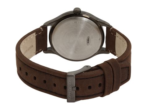 Expedition E6700 Silver Black Leather Brown For timex expedition 174 size brown leather field silver zappos free shipping both ways