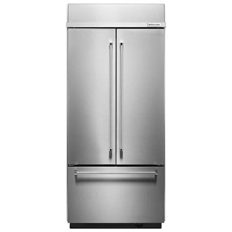 Kitchenaid Refrigerator Not Cooling Properly Shop Kitchenaid 20 8 Cu Ft 3 Door Built In Door