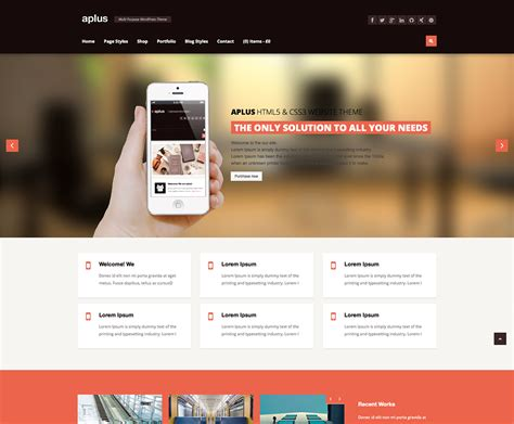 premium wordpress themes html5 website templates