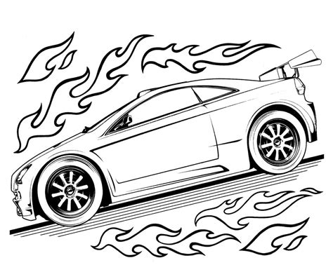 coloring pages of cartoon cars cartoon car coloring pages free printable hot wheels