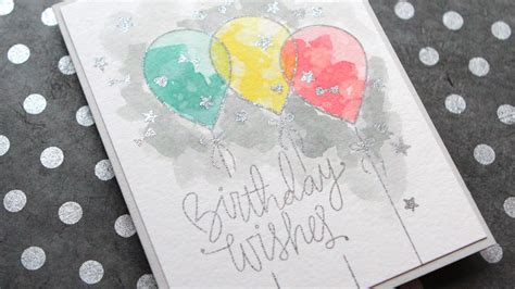 Watercolor Birthday Card Distress Ink Watercolor Birthday Card Youtube