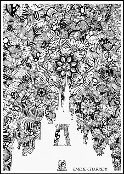 coloring castle mandala pages disney mandala by e charrier on deviantart