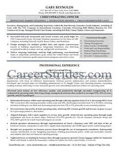 coo resume sle chief scientific officer resume sales officer lewesmr
