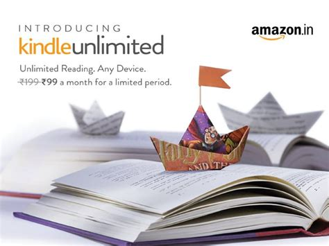 amazon kindle unlimited amazon kindle unlimited subscription launched at rs 199