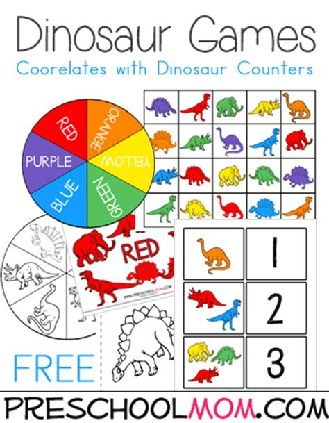 printable preschool games free dinosaur preschool printables