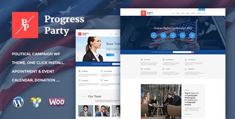 templates for voting website proparty political wordpress theme