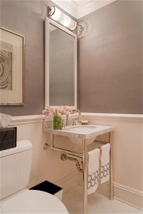 Light Match Bathroom Chair Rail In The Bathroom With Wide Baseboard In Matching Color Light Paint Beneath Rail