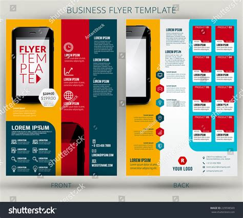 Brochure With Application by Vector Business Flyer Or Brochure Design Template Mobile Application Advertising 229598569
