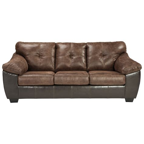 brown leather sleeper sofa signature design by gregale 9160339 brown