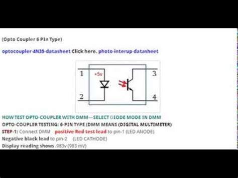 optocoupler ic testing youtube