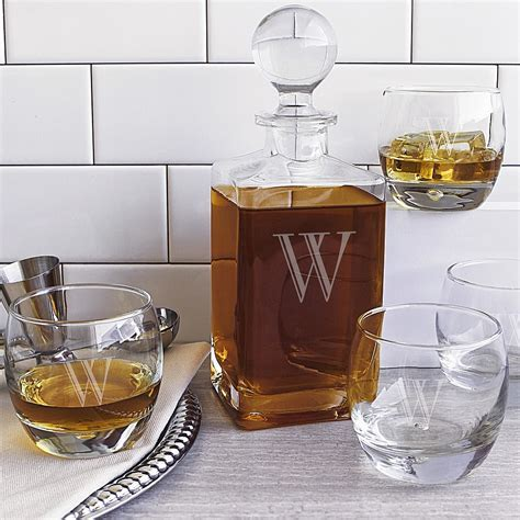 5 Pc. Whiskey Decanter Set Personalized