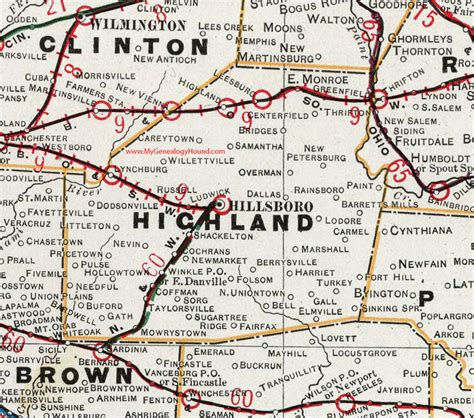greenfield ohio map highland county ohio 1901 map hillsboro oh