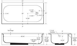 standard bath tub standard tub dimensions size tub