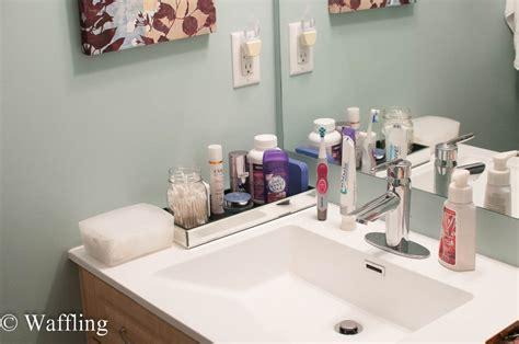 Bathroom Countertop Organization by Waffling Small Countertop Organization