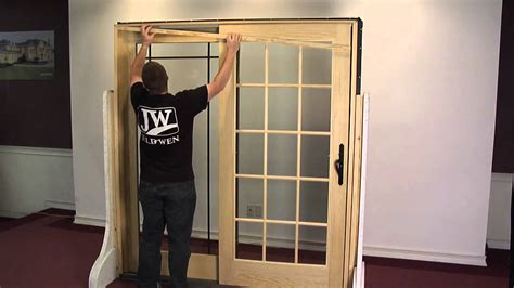 How To Remove And Reinstall An Operating Panel In A Removing A Patio Door