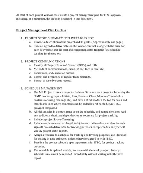 sle project management plan template sle project management plan 11 exles in word pdf