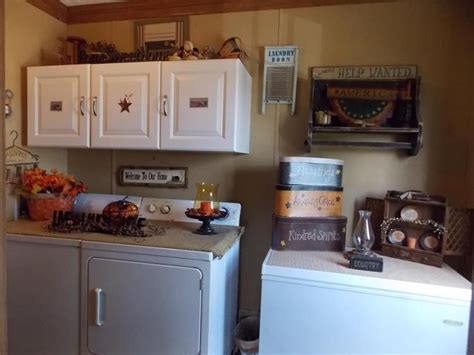 Country Laundry Room Decorating Ideas Manufactured Home Decorating Ideas Primitive Country Style