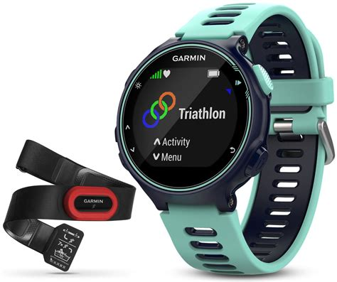 Garmin Forerunner 735xt garmin forerunner 735xt gps wrist hr multisport run bundle midnight blue blue