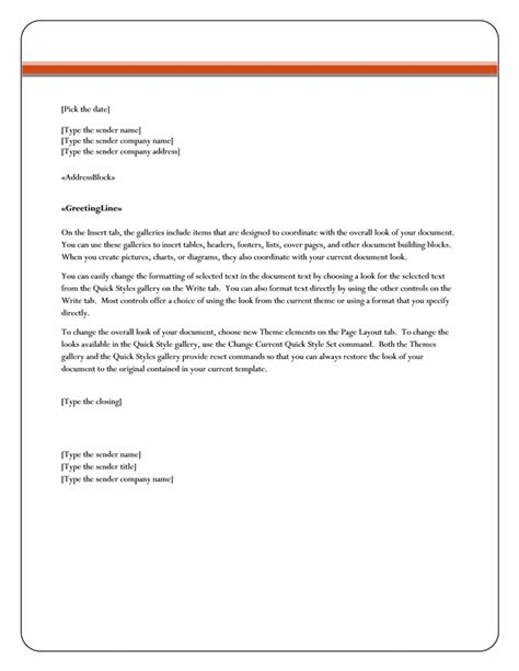 Letter Format Word Best Template Collection Free Letter Template Word