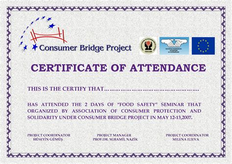 course attendance certificate template best photos of exles of certificate of attendance