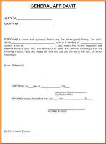 pin sworn affidavit template free on